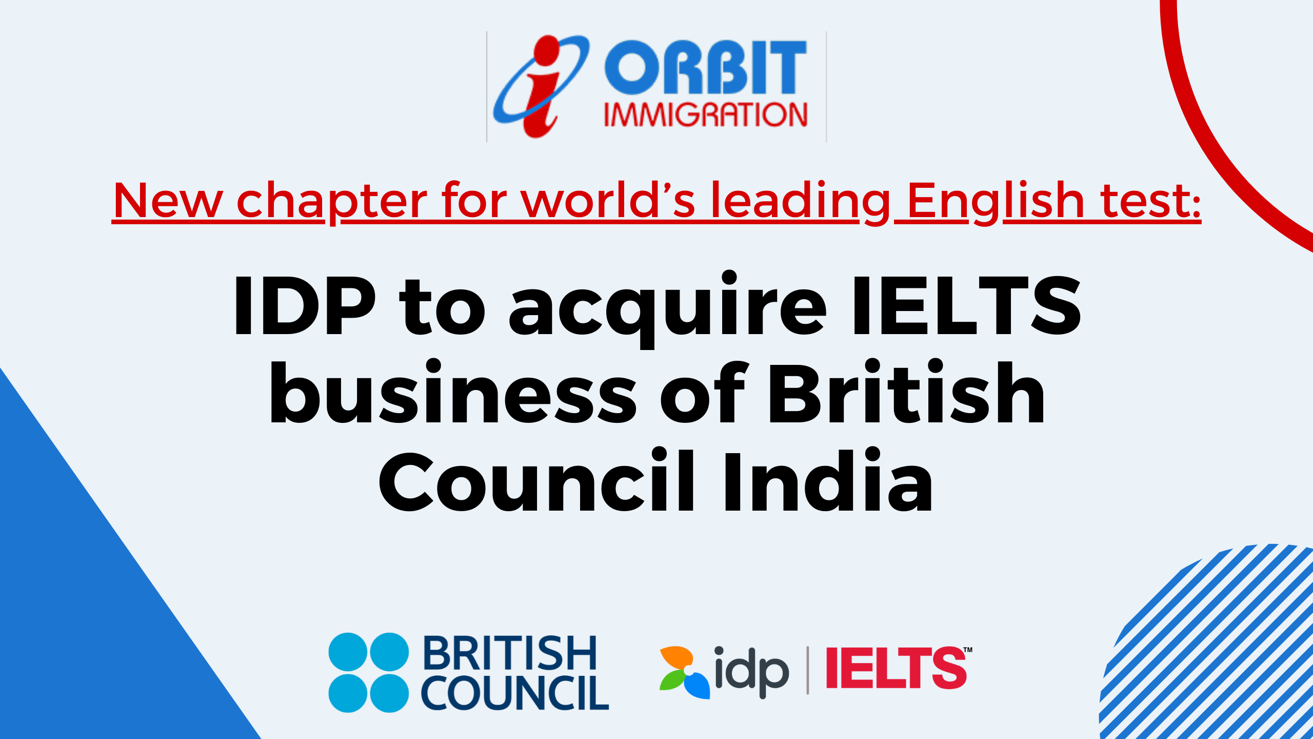 Biggest Announcement: IDP to acquire British Council's India IELTS business